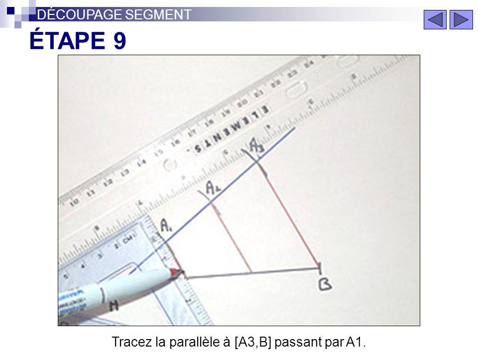 Tracez la parallèle à [A3,B] passant par A1.